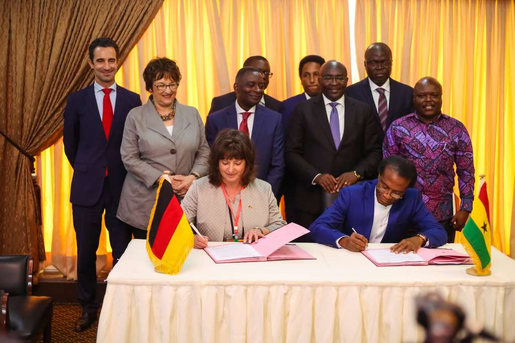 CEO of Siemens Sub-Saharan Africa, Sabine Dall'Omo emphasized that Siemens is part of social fabric of African countries, as an employer and investor as she was signing the agreement with the chairman of Rotan Energy, Kofi Morna (1)
