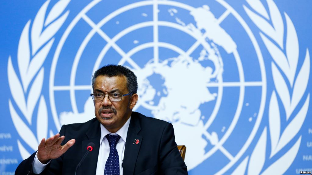 Director General of the World Health Organization (WHO) Tedros Adhanom Ghebreyesus