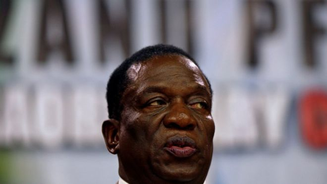 "Emmerson Mnangagwa said elections were ""nearer than you expect"""