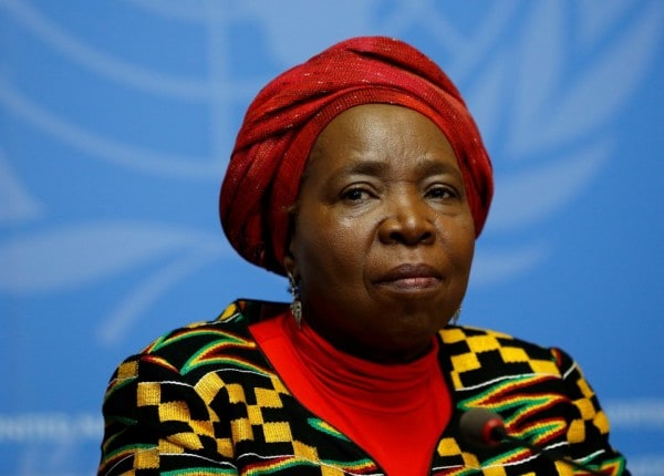 Nkosazana Dlamini-Zuma, an ex-wife of Jacob Zuma, was Cyril Ramaphosa's main challenger. (Denis Balibouse/Reuters)