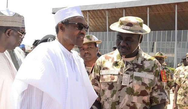 President Muhammadu Buhari and Chief of Army Staff, Tukur Buratai