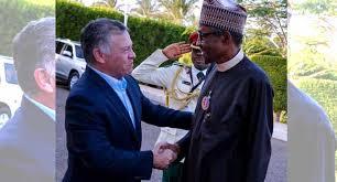 Presdent Buhari with the King of Jordan