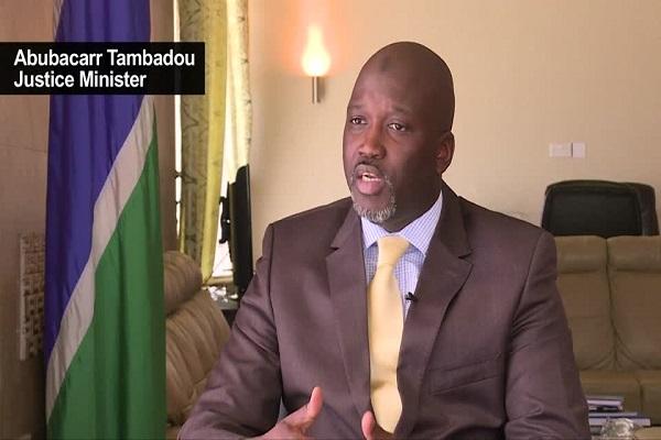 Justice Minister Abubacarr Tambadou.