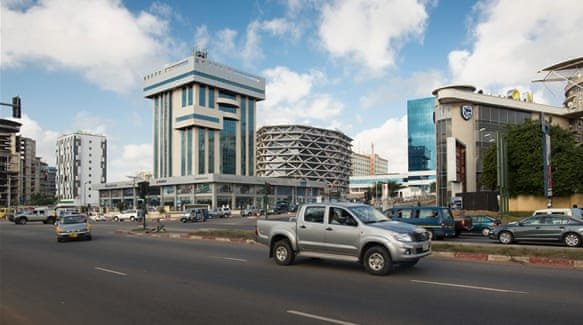 Modern architecture in Ghana's capital [Thomas Imo/Photothek via Getty Images]