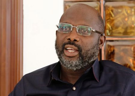 President-elect George Weah of the Coalition for Democratic Change (CDC) speaks during an interview with REUTERS at his residence in Monrovia, Liberia, January 2, 2018. REUTERS/Thierry Gouegnon/Files