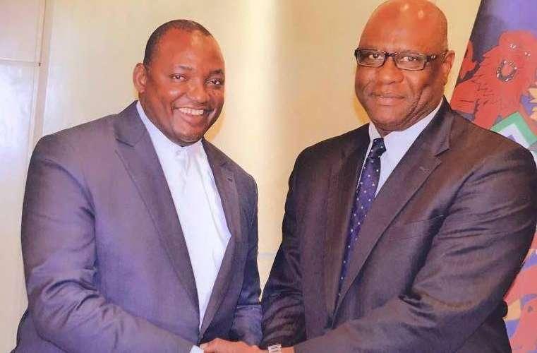 President Adama Barrow with Ambassador Omar Faye