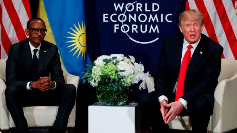 President Trump recently  met with with Rwanda's President Paul Kagame during the World Economic Summit in Devos