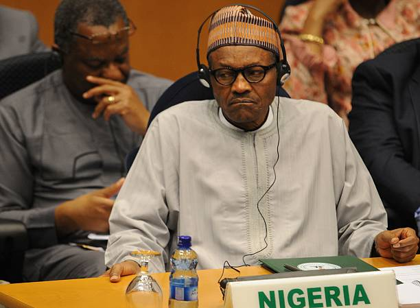 Nigeria's President Muhammadu Buhari attends the African Union (AU) Peace and Security Council in Addis Ababa on January 29, 2016.Getty Images Tony Karumba
