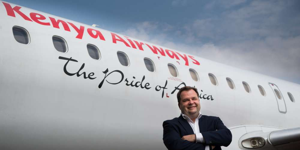 Kenya Airways Group Managing Director and CEO Sebastian Mikosz