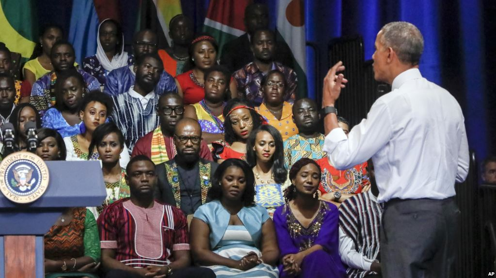 File Picture.President Barack Obama addresses the Young African Leaders Initiative in Washington, Wednesday, August 3, 2016. President Obama launched YALI in 2010 to support young African leaders in hope of strengthening democratic governance and encouraging peace and security across Africa.  (AP Photo/J. Scott Applewhite)