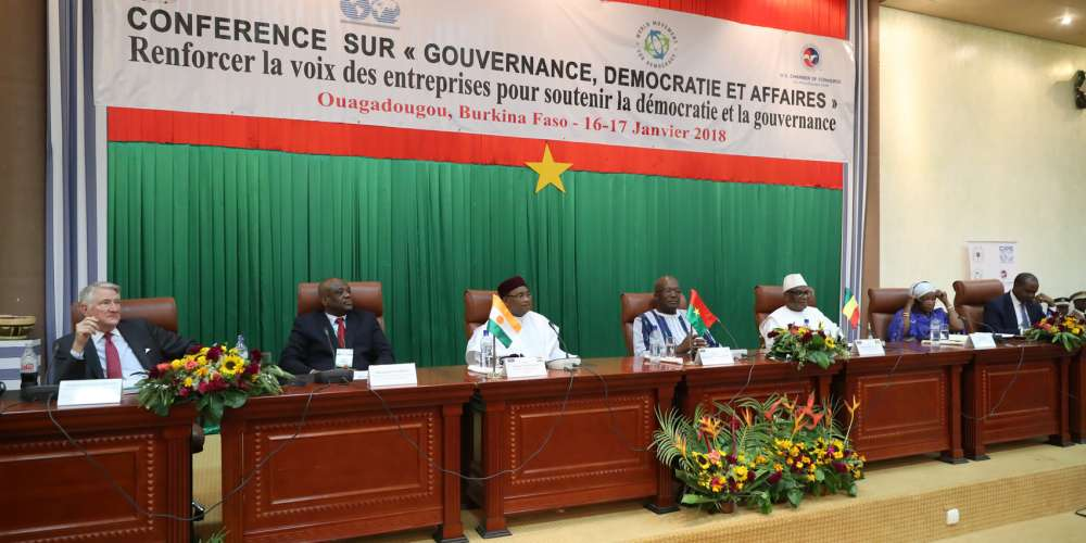 """Burkina Faso opens the Conference """"Governance, Democracy and Business"""" calling for a strengthen role of the private sector in Africa's democratic governance"""