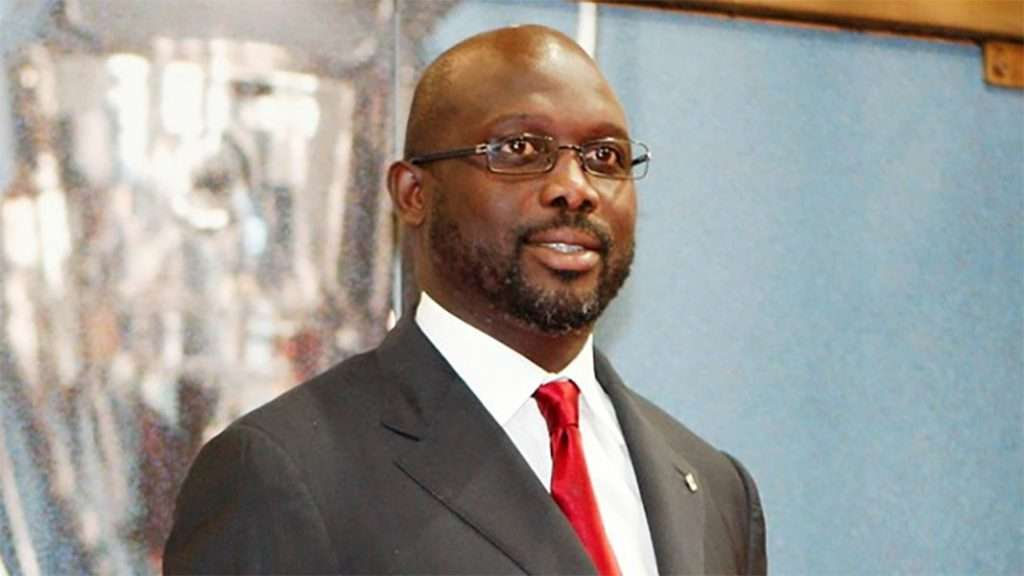 Liberian President elect George Weah