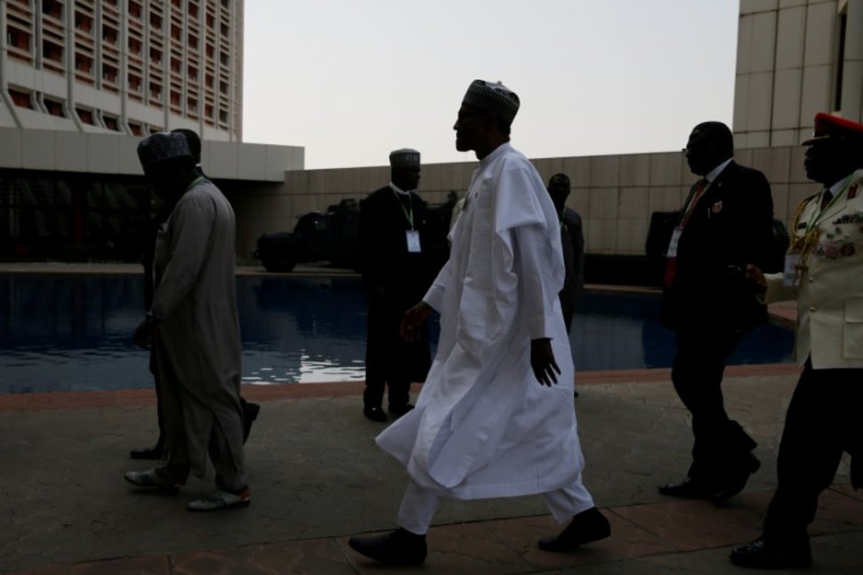 Nigeria's President Muhammadu Buhari is seen as he leaves the 52nd ECOWAS Summit in Abuja, Nigeria December 16, 2017. REUTERS/Afolabi Sotunde Reuters