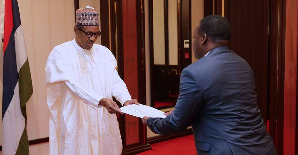 President Buhari Receives Letters Of Credence From Ambassador  Of Togo , Feb 8 2018. Pic Femi Adesina