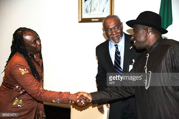 Ambassador Robin Sanders and former Assistant Secretary for African Affairs Johnie Carson pictured here here with former Nigerian President Goodluck Jonathan joined other former US Ambassadors who served in Africa to distance themselves from the President's remarks in a letter