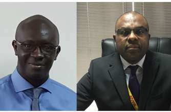 (left) Alassane Mare, Country Manager for Cameroon, DHL Global Forwarding and (right) Theophile Boutamba, Country Manager for Ivory Coast, DHL Global Forwarding