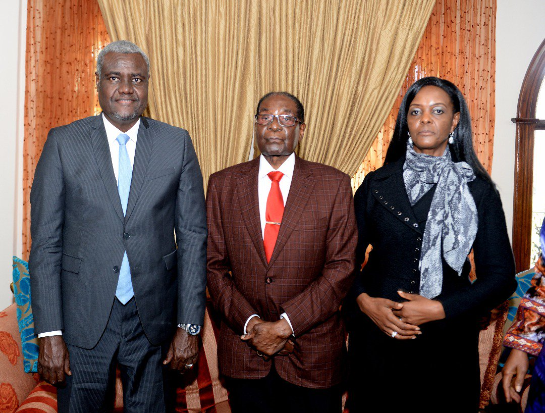 It was an honour to also pay a visit to former President Robert Mugabe said AU Chair Moussa Faki Mahamat .
