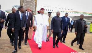 Niger's Mahamadou Issoufou is in Ghana for the Summit