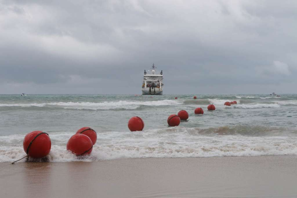 SACS makes landfall: The South Atlantic Cable System (SACS) between Africa and South America makes landfall at Fortaleza on the Brazilian coast.