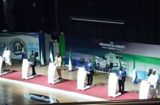 Rare Presidential debate for Sierra Leone