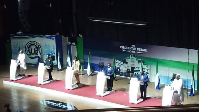 Rare Presidential debate for Sierra Leone