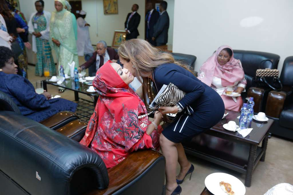 Dr. Rasha Kelej, CEO Merck Foundation with H.E. First Lady of the Republic of Chad Madame Hinda Deby Itno