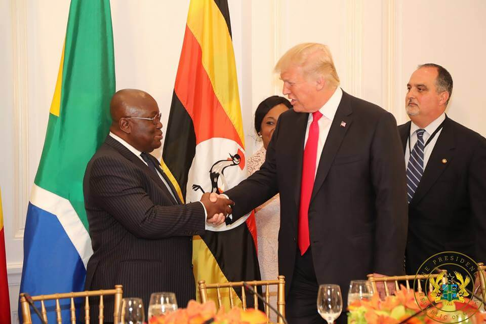 President Akuffo met With US President, Donald Trump   on the sidelines of the UN General Assembly meeting in 2017