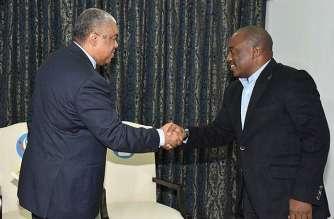 Former Prime Minister Samy Badibanga with President Kabila