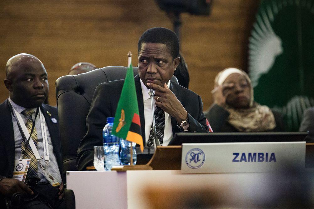 Edgar Chagwa Lungu  Photographer: Gulshan Khan/AFP/Getty Images