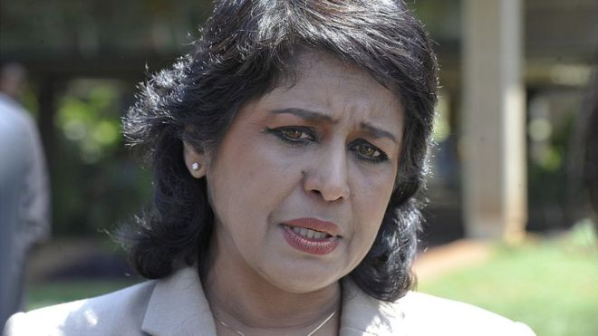 Ameenah Gurib-Fakim became the first woman to be appointed president in 2015
