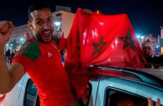 Football fans celebrated in the streets in November after Morocco qualified for its first World Cup since 1998