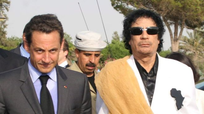 Mr Sarkozy clinched big trade deals for France with Libya's Gaddafi in 2007 when he was president