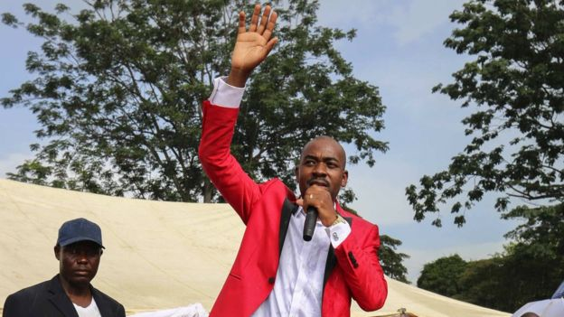 Supporters of Nelson Chamisa, 40, say his age is an asset