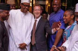 Facebook's Mark Zuckerberg meets Nigerian President Muhammadu Buhari, and Vice President Yemi Osinbajo in Abuja, Nigeria, on September. Mark Zuckerberg's African tour
