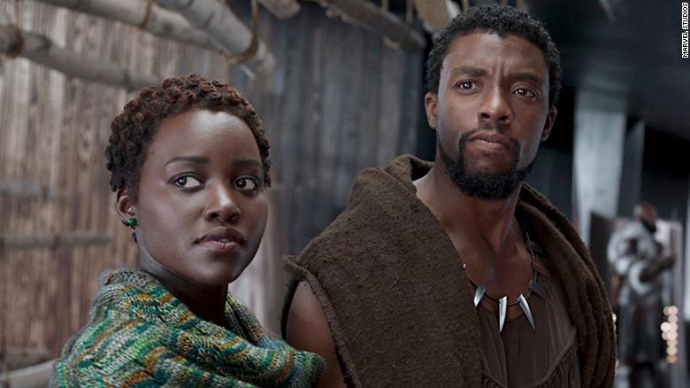 The king of Wakanda Chadwick Boseman and Lupita Nyong'o.