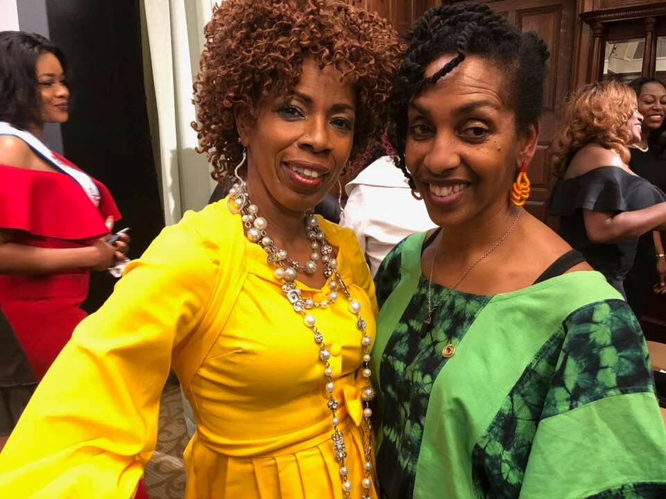 Wellness Professional Candice Camille (in yellow) spoke at the event while Christine White thrilled the audience with some exquisite West African dance moves