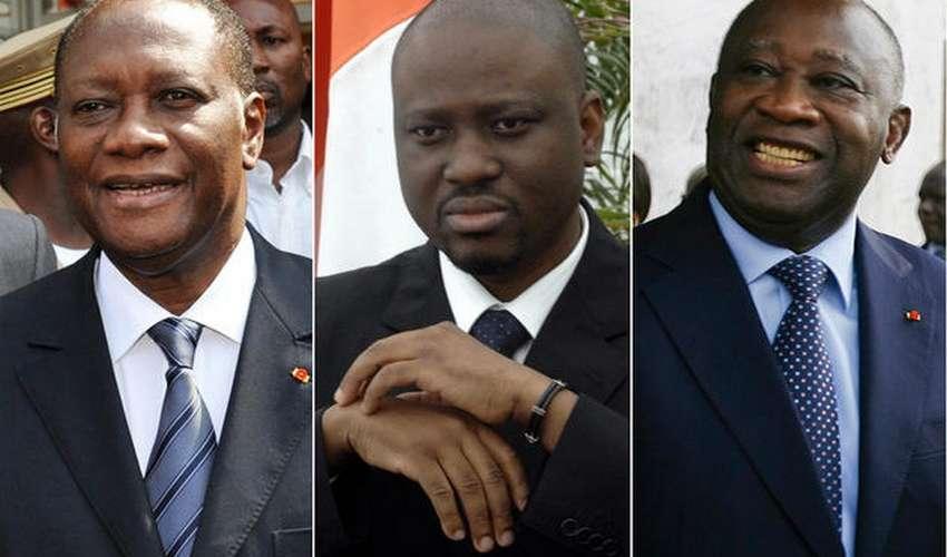 Alassane Ouattara Guillaume,Soro,Laurent Gbagbo