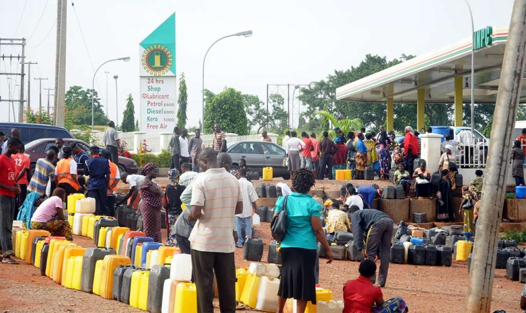 Oil queue in Nigeria