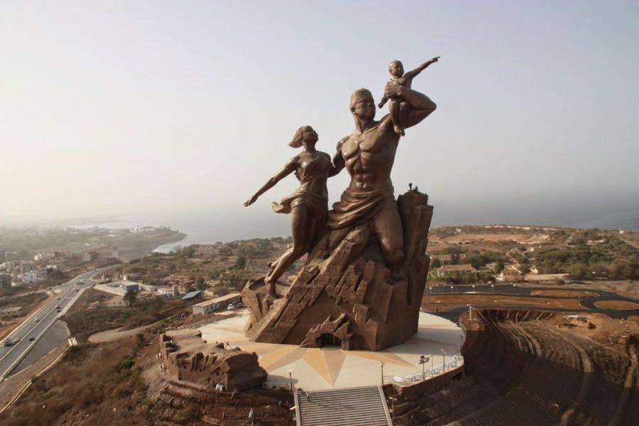 The African renaissance monument in Dakar,Senegal