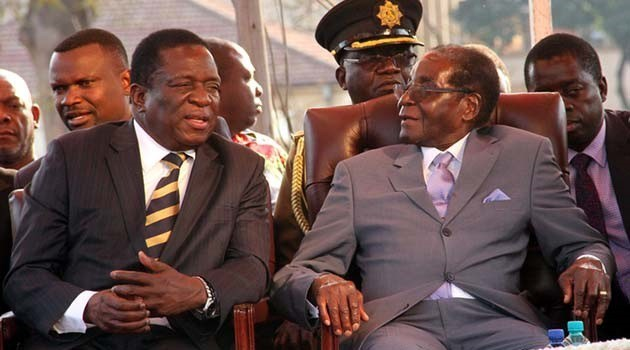 File Picture Former President Mugabe and his former Vice President and successor  Mnangagwa