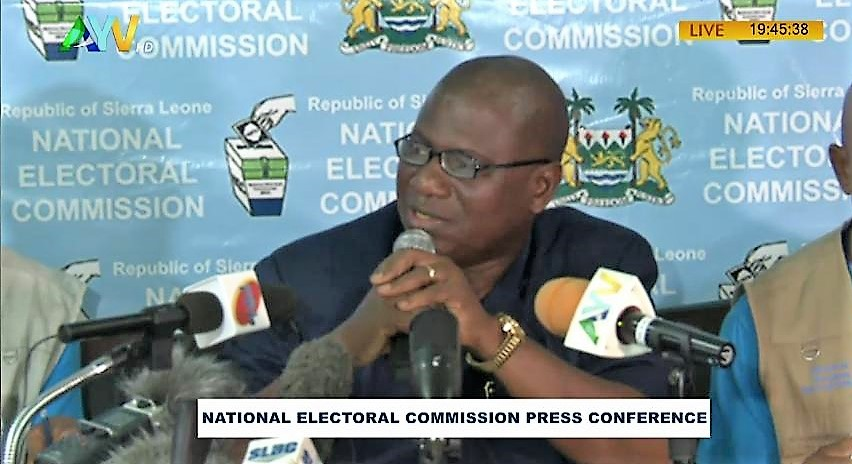 Chief electoral Commissioner of the National Electoral Commission Mr Mohamed Nfah Conteh