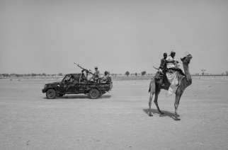Africa. Niger. Toumour. 2017. Nigerien security forces pass near Toumor refugee camp where 47 thousand Nigerian refugees and internally displaced Nigerians took shelter in southeastern Niger. According to the UN last report  (August 2017) 2,3 million people displaced in Lake Chad Basin and 129 thousand Nigeriens internally displaced in Niger after Boko Haram attacks in the region since 2015.