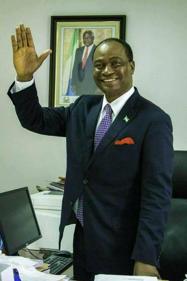 Ruling APC candidate Dr. Samura Mathew Kamara