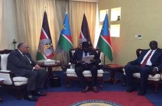 FM Shoukry meets S.Sudan's Salva Kiir, delivers President El-Sisis's message