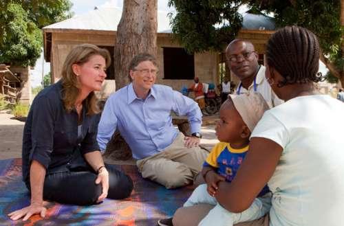 Bill Gates, co-chair of the Bill & Melinda Gates Foundation, in visit to Nigeria