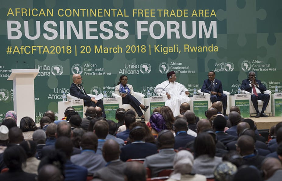 African leaders meet in Kigali to sign the continent's free trade agreement. Paul Kagame/Flickr