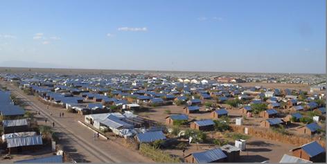 A panorama of the Kalobeyei settlement in Northern Kenya (Source: Takeshi Kuno)