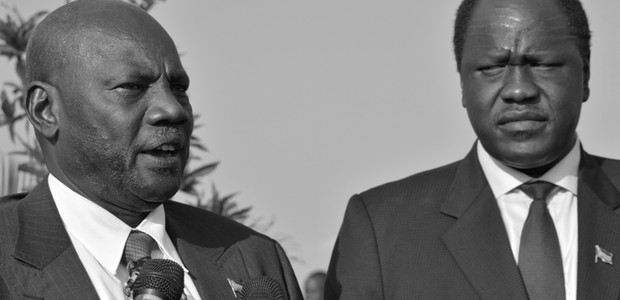 Michael Makuei Lueth, South Sudan Information Minister & Gov. Spokesman and Ezekiel Lol Gatkuoth, South Sudan Minister of Petroleum