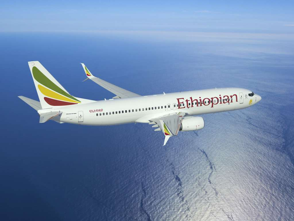 Rendering of an Ethiopian Airlines 737-800 with APB Split Scimitar Winglets (PRNewsfoto/Aviation Partners Boeing)