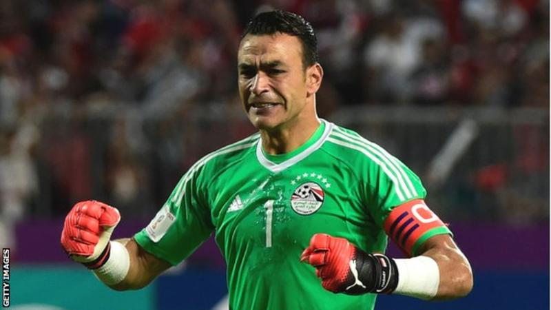 Egypt's Essam El-Hadary, 45, would become the oldest man to play at a World Cup if he features at Russia 2018